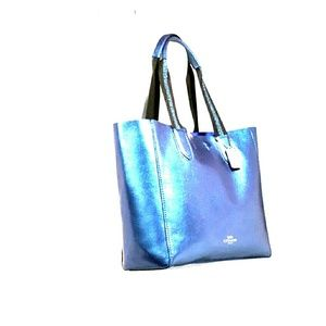 NWT Authentic Coach Hologram Derby Tote